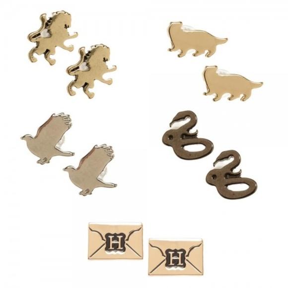 Harry Potter Set of 5 Earrings House Mascots 4e767945a68ce